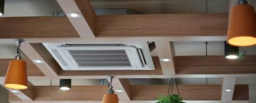 ceiling air conditioning in an office